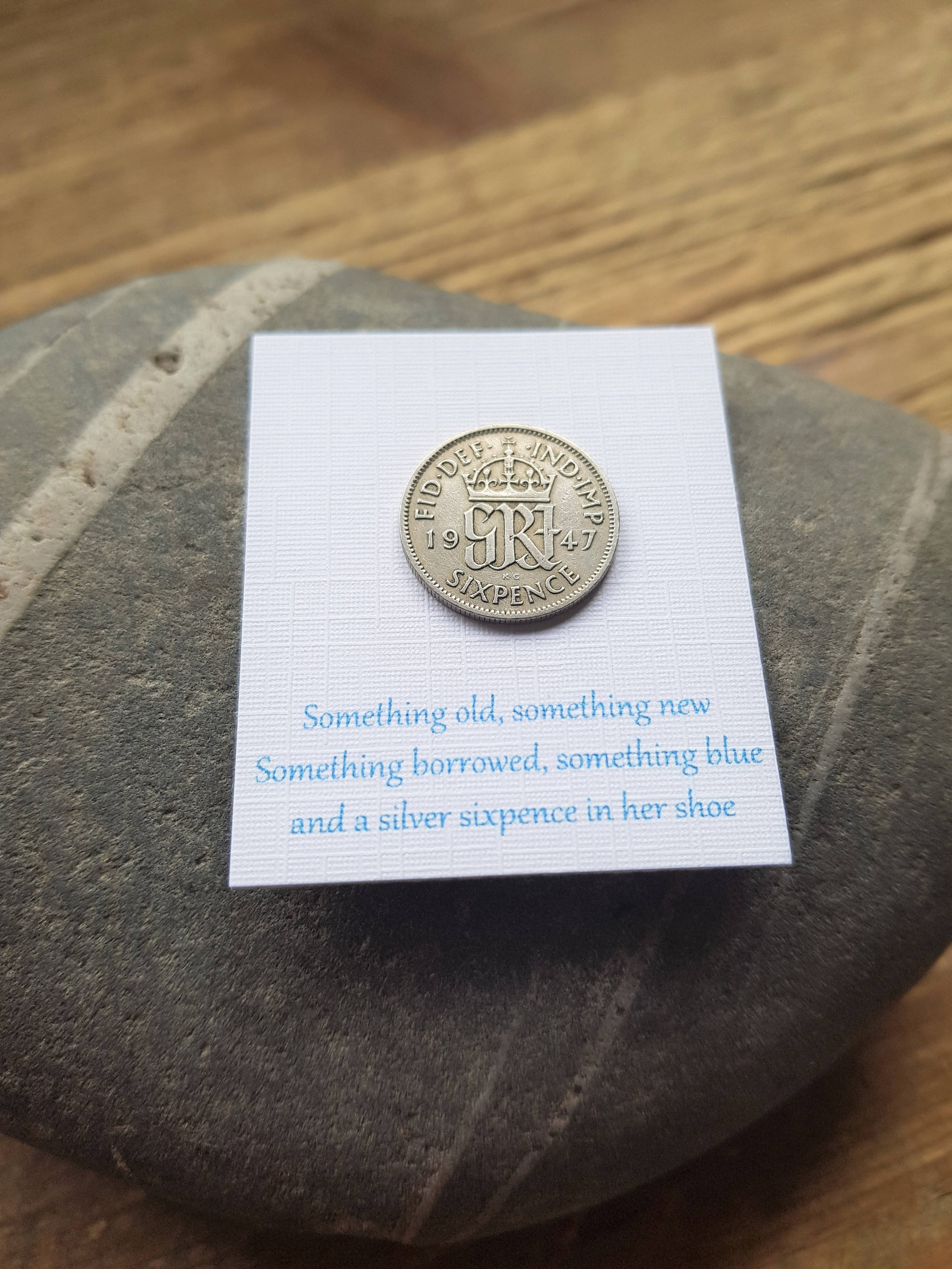 Brides Gift Lucky Sixpence ...